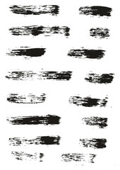 Paint Brush Lines High Detail Abstract Vector Background Set 34