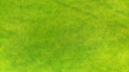Aerial. Top view of a green grass texture background.