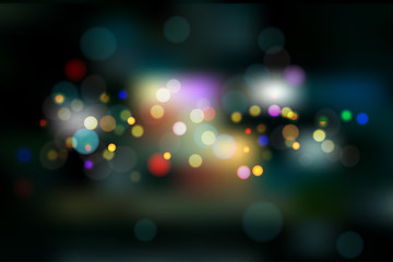 Blurred defocused night city landscape – stock vector