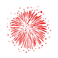 Hand drawn fireworks – stock vector