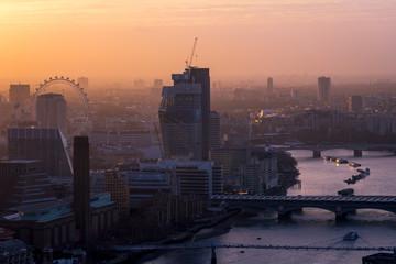 Photo sur Plexiglas Londres London cityscape at sunset