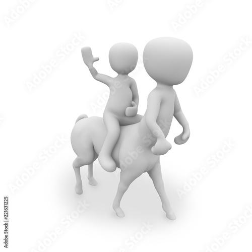 white man half man half horse and horseback riding