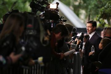 Actor Hugh Jackman speaks tp media at the international premiere of The Front Runner at the Toronto International Film Festival (TIFF) in Toronto