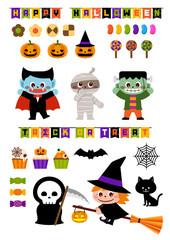 halloween illust 素材