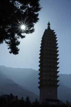 Pagoda Silhouette Dali China