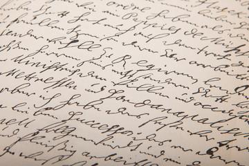 Old handwriting, vintage leter.