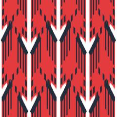 Fotobehang Boho Stijl Ikat Seamless Pattern Design. Ethnic fabric. Bohemian fashion