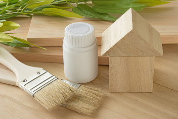 木の家 刷毛 木材