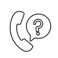 Telephone or mobile. Customer service icon vector