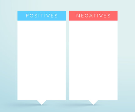 Positive Negative 2 List Banners Infographic Template