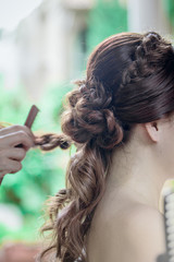 Hair salon bride