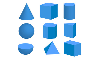 Basic 3d geometric shapes