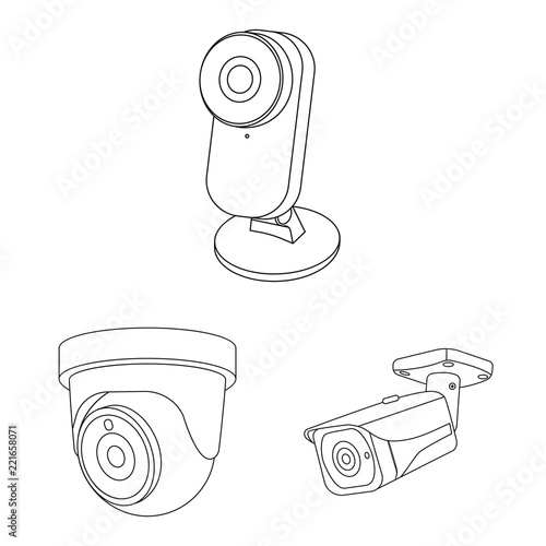 vector illustration of cctv and camera sign set of cctv and system HD Web Camera vector illustration of cctv and camera sign set of cctv and system stock symbol for