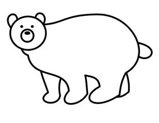 熊(線画)