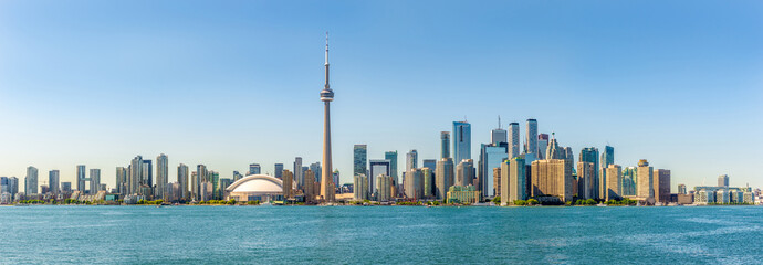 Aluminium Prints Toronto Panoramic skyline view at the Toronto city in Canada