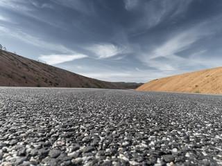 Nahaufnahme einer neu gebauten Straße