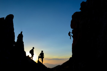 Foto op Aluminium Alpinisme climbing, hiking, mountaineering and enormous fascinating mountains