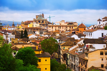 Day view to historic  part Granada