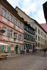 Bamberg, Abenddämmerung, Altstadt, People