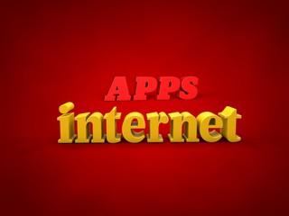 APPS, internet - 3D Design, Word and alphabet Images