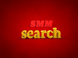 SMM, Search - 3D Design, Word and alphabet Images