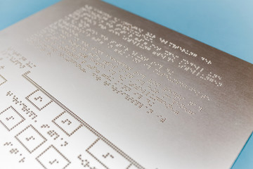 Close up of braille text, Abstract background