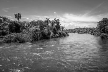 Parana river at iguazu falls
