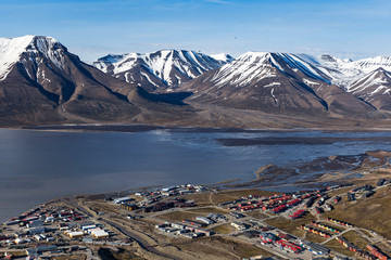 Residential hourses and shipyard of Longyearbyen