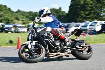 オートバイの運転練習