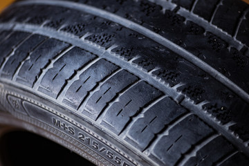 Old, used tyres