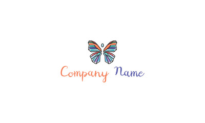 Colorful Butterfly vector logo image