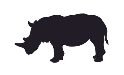 rhinoceros worth drawing silhouette, vector Wall mural