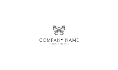 Black Butterfly vector logo image