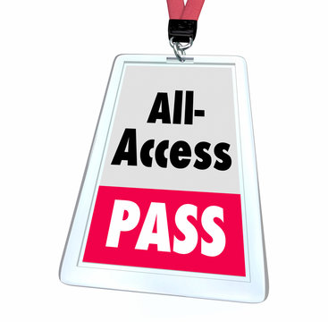 All Access Pass Ticket Full Exclusive Admittance Badge 3d Illustration