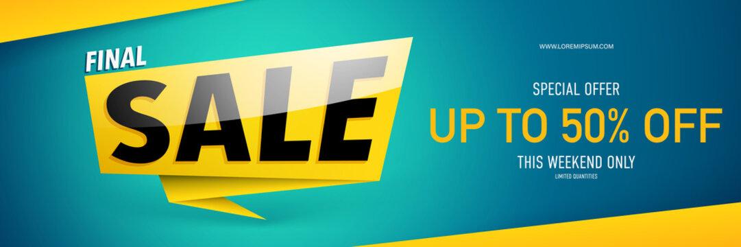 Sale banner template design.