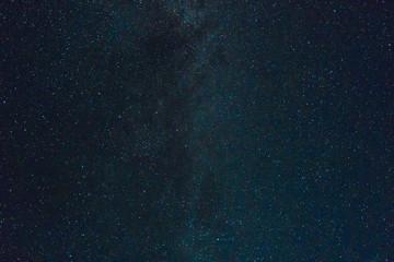 milky way in all its glory dark blue green starry night sky