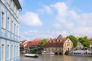 Bamberg, Altstadt, Schiffahrt, Regnitz