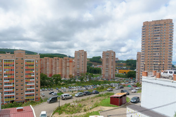 "September, 2018 - Vladivostok, Primorye Territory - a new residential area for the military ""Snowfall Pad"""