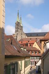 Bamberger Dom, Gasse, Fachwerk, Half Timbered