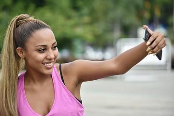 Athletic Female Selfie