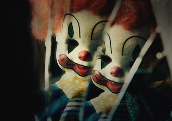 Evil Possessed Scary Clown Toy Doll
