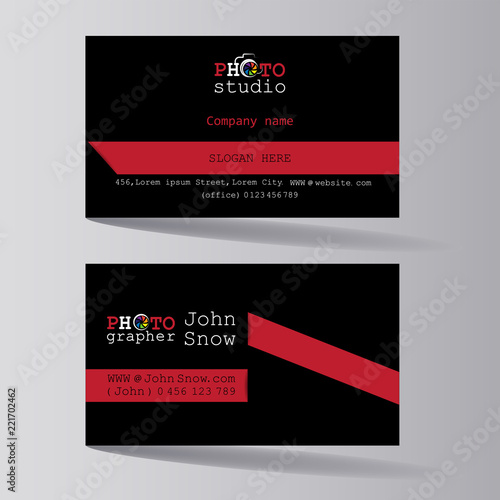 Photo Studio Business Card Of The Photographer Business Card