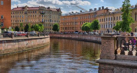 Griboyedov Canal embankment in St. Petersburg
