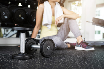 Young sport woman in gym, Fitness ,training lifestyle concept