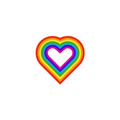 Rainbow love icon element template