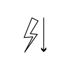 little tension icon. Element of arrow and object icon for mobile concept and web apps. Thin line little tension icon can be used for web and mobile