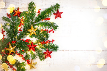 Christmas concept with fir branches