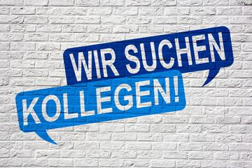 Wir suchen Kollegen - Jobsuche und Bewerbung Graffiti