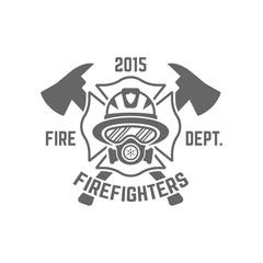 Fire department monochrome vector emblem