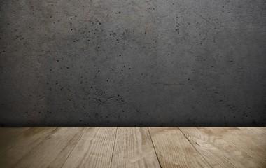Obraz Präsentationsfläche / Hintergrund mit Holzboden - fototapety do salonu